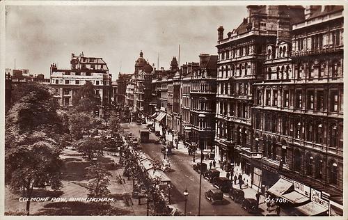 Colmore Row - Birmingham - Old Postcard