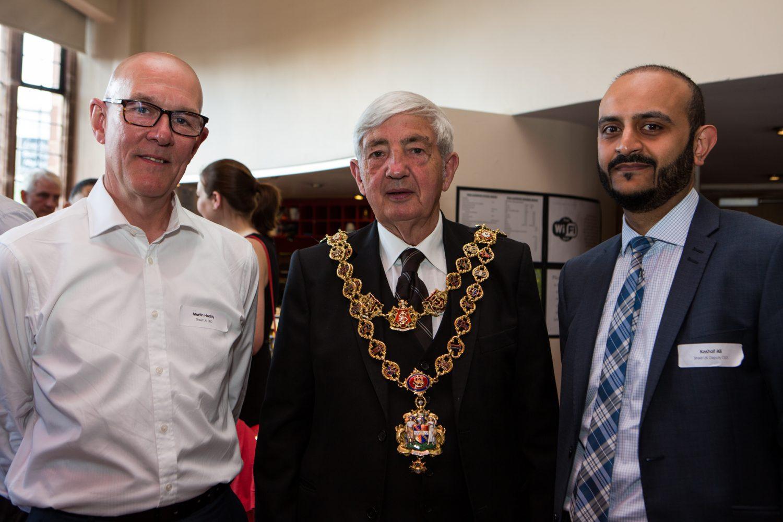 Street UK CEO Martin Hockly, Lord Mayor of Birmingham Cllr Ray Hassal and Kashaf Ali, Deputy CEO of Street UK