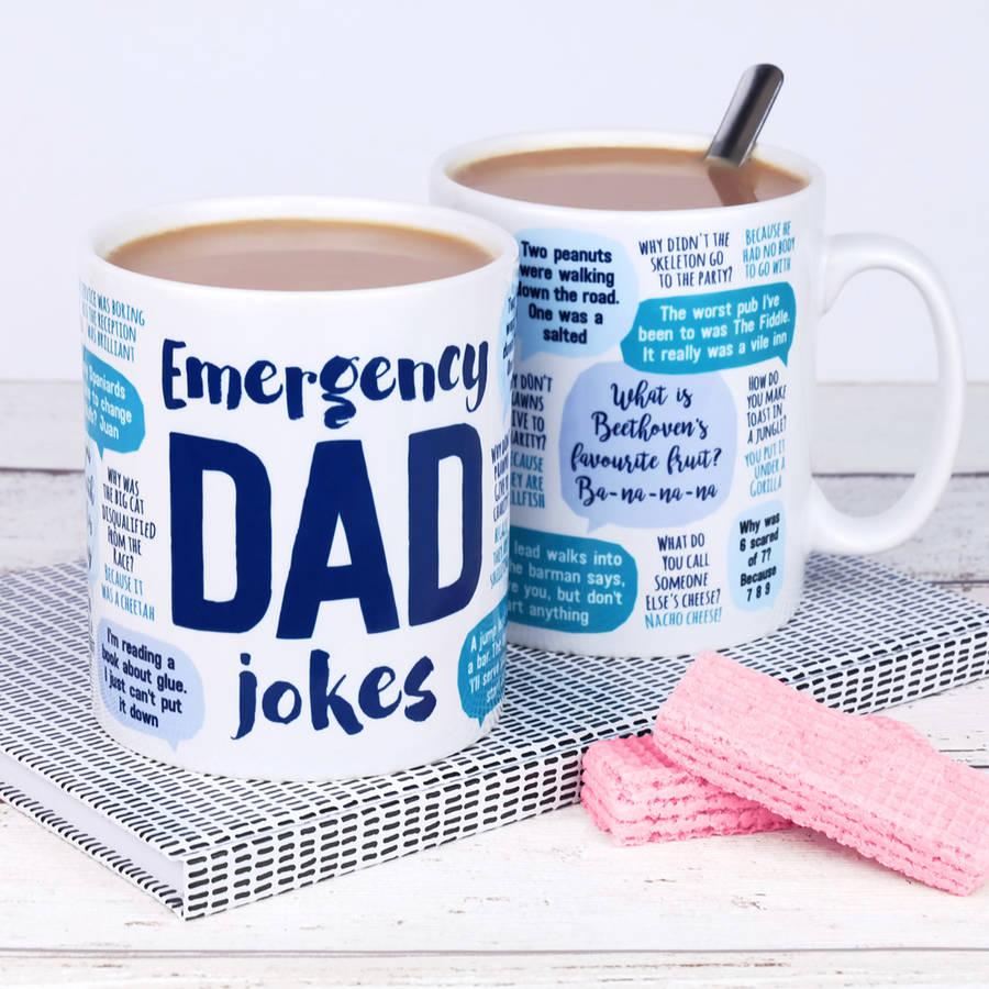 Street UK - Fathers Day Gift under 15 - Emergency Dad Jokes Mug
