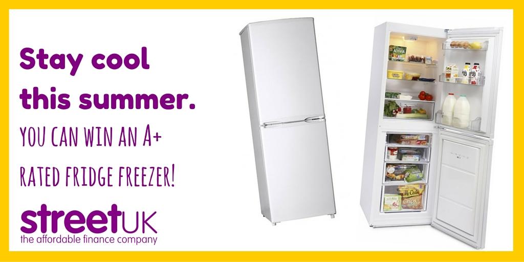 WIN an A+ rated fridge freezer worth £199.99!