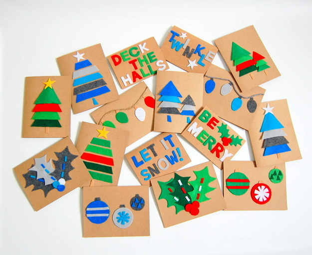 Handmade Christmas Cards - Autumn Break Activities