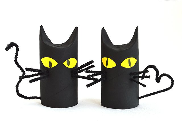 Halloween Toilet Roll Cats - Autumn Break Activities