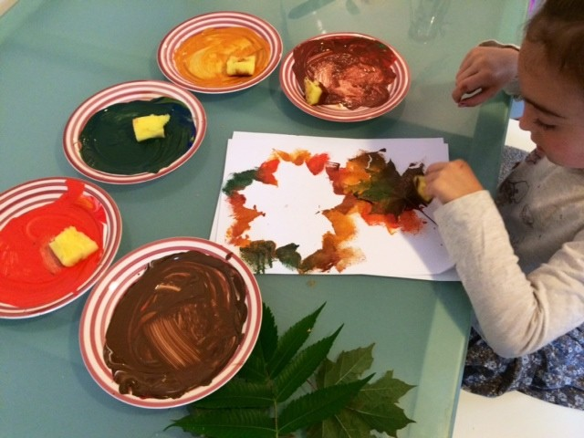 Autumn Leaf Painting - Autumn Break Activities