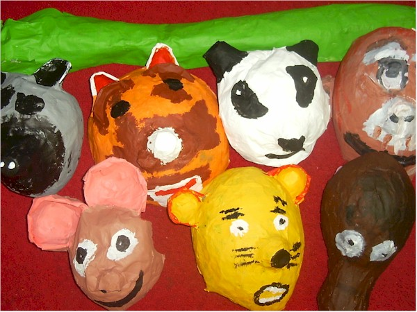 Paper Mache Animal Masks - Autumn Break Activities